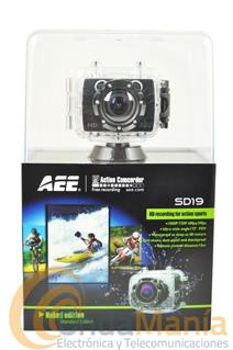 CAMARA FULL HD 1080P AEE SD-19 CON PANTALLA LCD+PORTE GRATIS