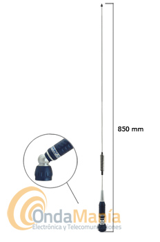 SIRIO TURBO 800S ANTENA MOVIL CON ROTULA PARA 27 MHZ