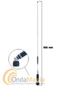 SIRIO TURBO 800S ANTENA MOVIL CON ROTULA PARA 27 MHZ - Antena móvil de banda ciudadana (27 Mhz) con rótula, varilla cónica de acero inoxidable 17/7 PH, incluye base Turboy 4 mts de cable RG-58. Incluye certificado de autenticidad.