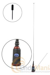 SIRTEL SANTIAGO 600 ANTENA ORIGINAL ANTENA CABLE Y BASE - Antena original (fabricada en Italia) Sirtel Santiago 600 con varilla de acero inoxidable, 5/8, 4 dB de ganancia e incluye base PL, cable 4,5 mts de cable RG-58 y un conector PL.