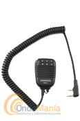 KENWOOD SMC-33 - Micrófono altavoz Kenwood SMC-33,compacto multifunción (permite controlar tres funciones del walki talky). Valido para todos los portátiles Kenwood.