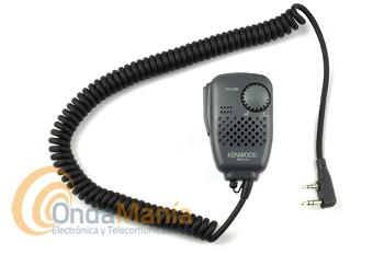 KENWOOD SMC-34 MICROFONO ALTAVOZ - Micrófono altavoz Kenwood SMC-34, multifunción (permite controlar tres funciones del walky talky) con control de volumen. Valido para todos los portátiles Kenwood.