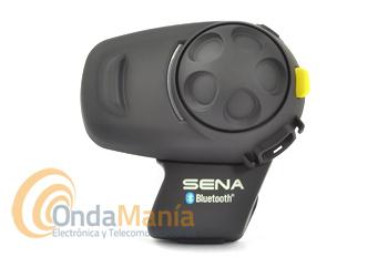 SENA SM H5-FM PILOTO INTERCOMUNICADOR PARA MOTO - El Sena SM H5-FM es un intercomunicador para moto (piloto) estéreo con tecnología Bluetooth 3.0 incluye sintonizador de radio FM. Con el intercomunicador de moto Sena SM H5-FM, podemos llamar manos libres desde nuestro teléfono móvil gracias a la tecnología Bluetooth, también podemos escuchar música en estéreo o recibir instrucciones de nuestro navegación GPS, también podemos tener conversaciones con dos vías de intercomunicación en full-dúplex con un pasajero u otros motociclistas.
