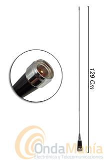ANTENA MOVIL DE VHF SN-286 - Antena para móvil de VHF con 3 dB de ganancia, 129 cm de longitud y 240 gramos