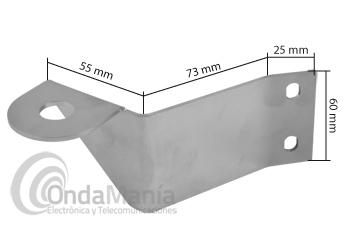 TELECOM M-12 SOPORTE LARGO INOX DE ANTENA PARA IVECO STRALIS - Soporte de antena largo inox para Iveco Stralis