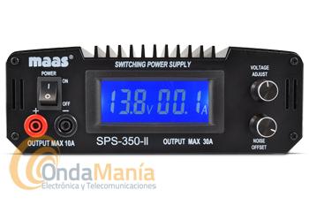 MAAS SPS 350II FUENTE DE ALIMENTACION CONMUTADA DE 8 A 15 V. CON LCD Y 30 AMP. MAX.