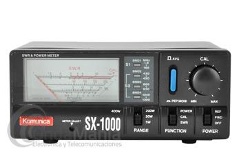 KOMUNICA SX-1000 MEDIDOR DE ROE Y POTENCIA DE 1,8 A 160 MHZ Y DE 430 A 1300 MHZ CON 2 SENSORES