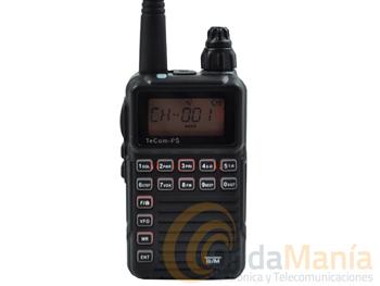 PMR TECOM-PS PR-8059  - Pequeño y ligeroPMR-446 con 8 canales, batería de Ion-Litio, cargador a 220 VCA con cable USB, roger-beep, secrafonia,...