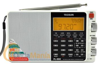 TECSUN PL-880 RECEPTOR MULTIBANDA TODO MODO CON EXCELENTE RENDIMIENTO COLOR BLANCO - Receptor de radio multibanda con AM, FM estéreo, SW, LW y SSB con excelente rendimiento, 3500 memorias, incluye batería recargable de litio, toma de antena exterior, display LCD retroiluminado...
