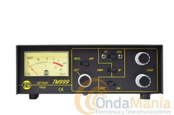 ZETAGI TM-999 - El Zetagi TM-999 es un medidor de ROE, vatimetro y acoplador (tuner) ideal para trabajar de 26 a 28 Mhz.