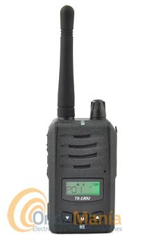 TTI TX-130 U WALKIE PMR-446 DE USO LIBRE + PINGANILLO DE REGALO - Walki talkie de uso libre con batería de litio, resistente al polvo y agua según el estándar IP55, dispone de tonos CTCSS, DCS, dispone de secrafonia, roger beep, tono beep en el teclado,....
