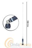SIRIO TURBO 3000 ANTENA MOVIL CON ROTULA PARA 27 MHZ - Antena móvil de banda ciudadana (27 Mhz) con rótula, varilla cónica de acero inoxidable 17/7 PH, incluye base Turboy 4 mts de cable RG-58. Incluye certificado de autenticidad.