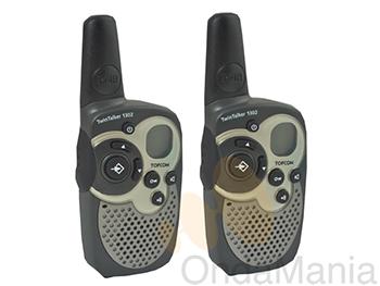 PMR TOPCOM TWINTALKER 1302 - Pareja de portátiles PMR con 8 canales, cinco tonos de llamada, función de monitor, display retroiluminado,...
