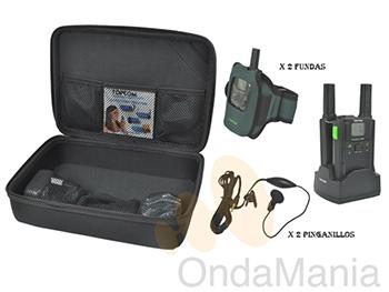 PMR TOPCOM TWINTALKER 7100 SPORT PACK - Pareja de portátiles PMR de uso librecon baterías y cargadores individuales, fundas para sujección en el brazo, incluye caja de transporte, cargador doble y micro-auriculares,...