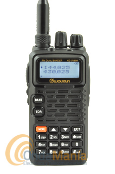 WOUXUN KG-UV899 WALKIE DOBLE BANDA CON RADIO COMERCIAL, LINTERNA LED+PINGANILLO DE REGALO