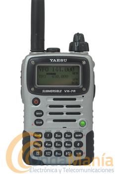 YAESU VX-7R PLATA + 3 AÑOS DE GARANTIA  - El transceptor YAESU VX-7R plata es un portátil tri-banda ultra robusto con carcasa de magnesio, sumergible y con una gran capacidad de memoria. Ahora con 3 años de garantía