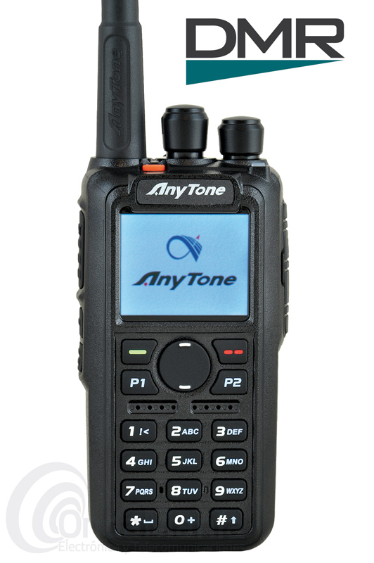 ANYTONE AT-D868UV WALKI BIBANDA DIGITAL DMR Y ANALOGICO CON GPS - SUSTITUIDO POR EL ANYTONE  AT-D878UV. El Anytone AT-D868UV GPS es un walki talky digital DMR y analógico doble banda con GPS, dispone de  hasta 250 IDs personales, hasta 160.000 contactos digitales, hasta 250 zonas, batería de litio de alta capacidad con 3100 mAh, 7 W de potencia en VHF y 6 W en UHF, pantalla TFT a color, admite Tier I y Tier II,...
