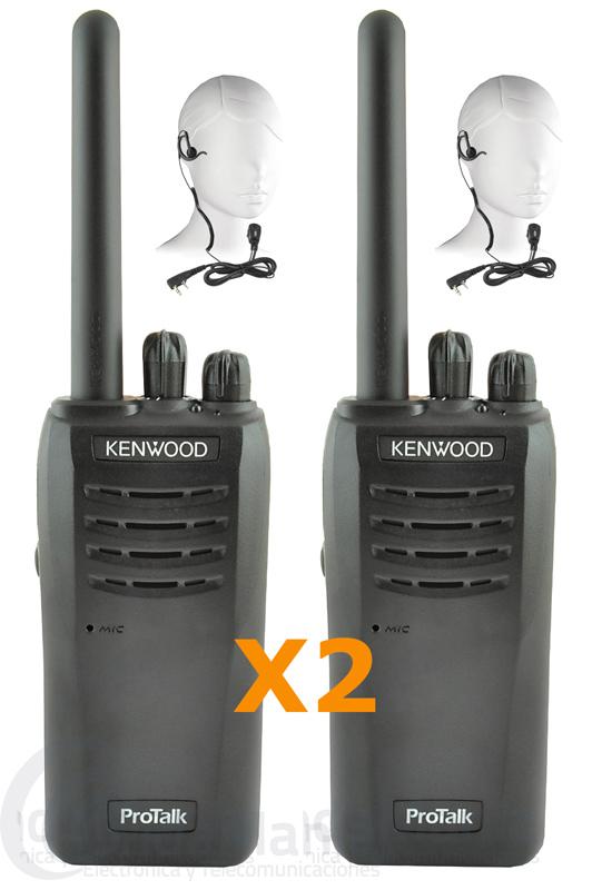 PAREJA DE DOS KENWOOD TK-3501 WALKIES PMR DE USO LIBRE CON PINGANILLOS DE REGALO
