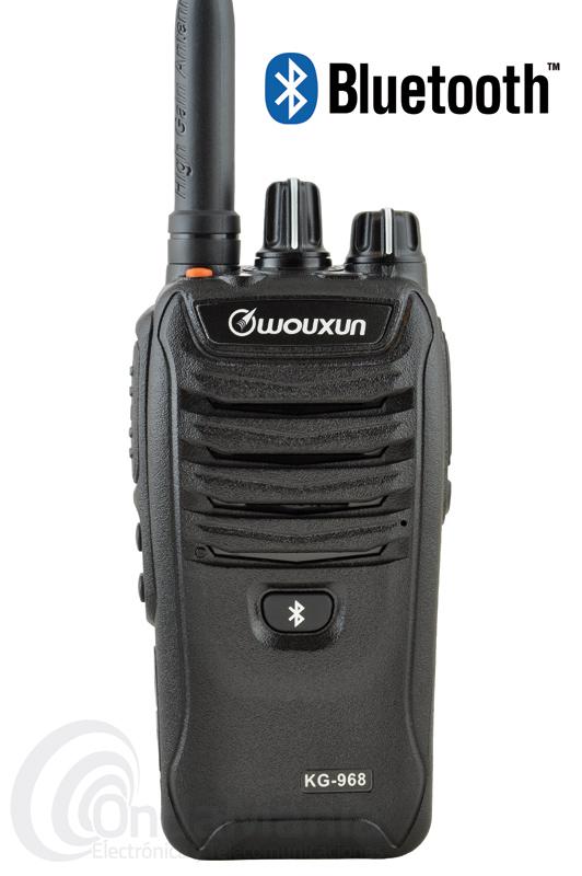 WOUXUN KG-968 WALKI PROFESIONAL DE UHF CON BLUETOOTH, 8 W DE POTENCIA, RADIO FM Y LINTERNA - El Wouxun es un walky profesional de UHF de 400 a 480 Mhz, con una potencia de 8 a 10W con Bluetooth, radio de FM comercial y linterna led, con un grado de protección IP66, 256 canales de memoria divididos en 16 grupos, batería de Ion-LItio y cargador de sobre-mesa rápido e inteligente,...