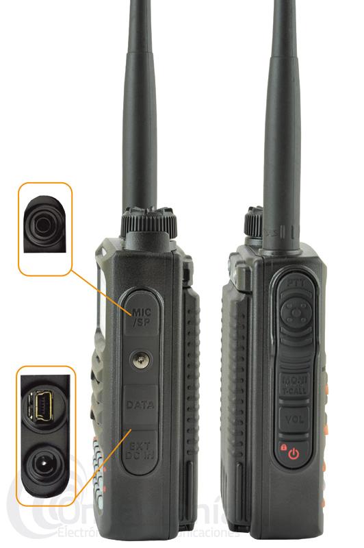 YAESU FT-70DE WALKIE DOBLE BANDA ANALOGICO Y DIGITAL C4FM FUSION+PINGANILLO Y 3 AÑOS DE GARANTIA - Walkie doble banda UHF y VHF analógico y digital C4FM FUSION, con 5 W de potencia, 1105 canales de memorias, norma IP54 protección contra polvo y agua, dispone de un gran altavoz frontal, 3 años de garantía,....