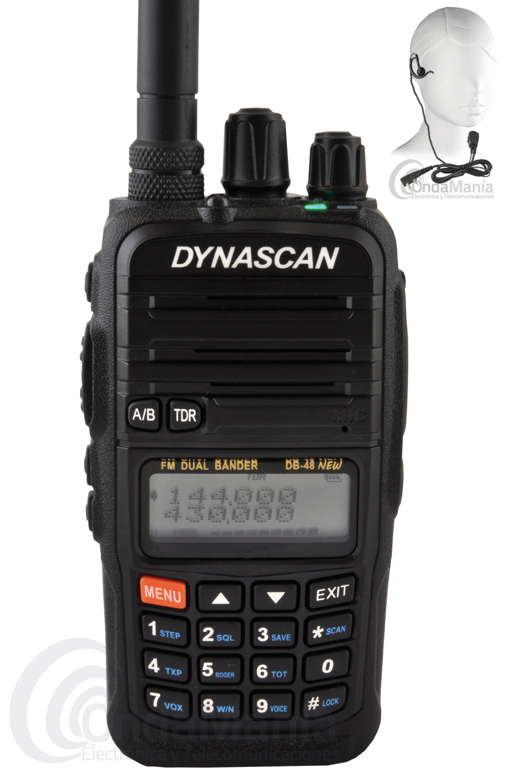 DYNASCAN DB-48 NEW WALKI TALKI DOBLE BANDA VHF-UHF PINGANILLO Y FUNDA DE REGALO