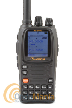 WOUXUN KG-UV9D WALKIE DOBLE BANDA VHF/UHF, FULL DUPLEX, 199 MEMORIAS, LINTERNA LED, PINGANILLO