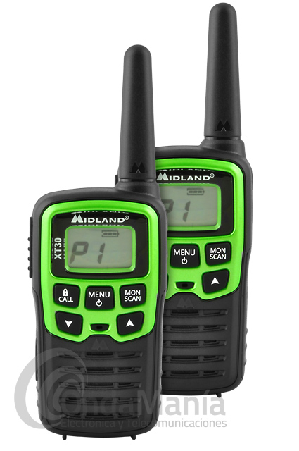 PAREJA DE WALKIE TALKIE PMR-446 MIDLAND XT-30 OUTLET