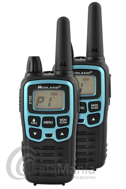 PAREJA DE WALKIE TALKIE PMR-446 MIDLAND XT60 OUTLET