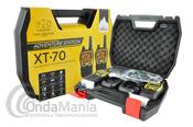 MIDLAND XT-70 ADVENTURE EDITION PAREJA PMR MIDLAND CON MALETA Y ACESORIOS - Maleta compuesta por una pareja de Midland XT-70 Adventure Edition compuesto por dos walkies con sus respectivos accesorios: baterías, cargador, pinganillos,... Los Midland XT70 son unos equipos Dual Band LPD+PMR446 con subtonos y multiples funciones.