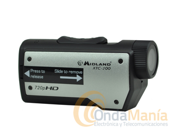 MIDLAND XTC-200 ACTION CAMERA FULL HD ALTA DEFINICION+FUNDA ACUATICA WATER-PROOF OPCIONAL