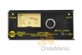 ZETAGI 102 - El Zetagi 102 es un medidor de ROE (estacionarias) para la banda de 10-11 m. (CB/27/28 Mhz) con una impedancia de 50 Ohm.