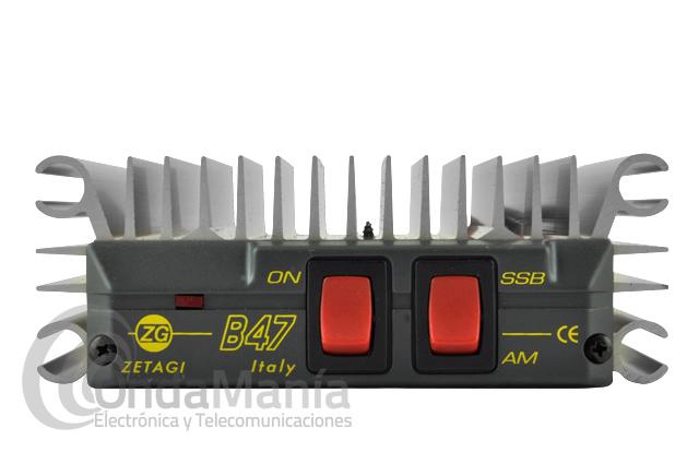 AMPLIFICADOR MOSFET ZETAGI B-47 - Amplificador de transistores de 26 a 30 Mhz con una potencia de salida de 50 W en AM y 100 W SSB (aprox).